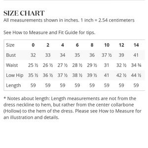 David's Bridal Dress Size Chart